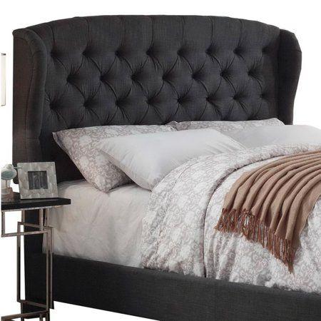 Home Upholstered Bed Master Bedroom Wingback Headboard Headboard