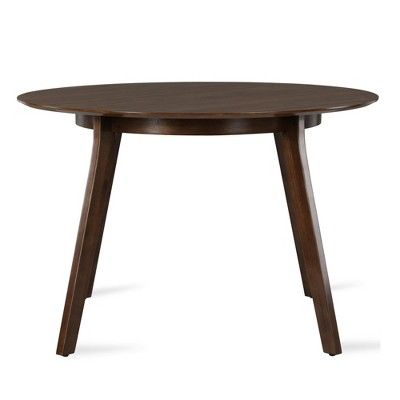 Henley Mid Century Round Dining Table Walnut Novogratz Round
