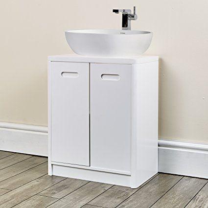 New Under Sink Cabinet Bathroom White Furniture For Fitting Pedestal Sink Hampton White Und With Images Bathroom Furniture Storage Bathroom Sink Design Bathroom Furniture