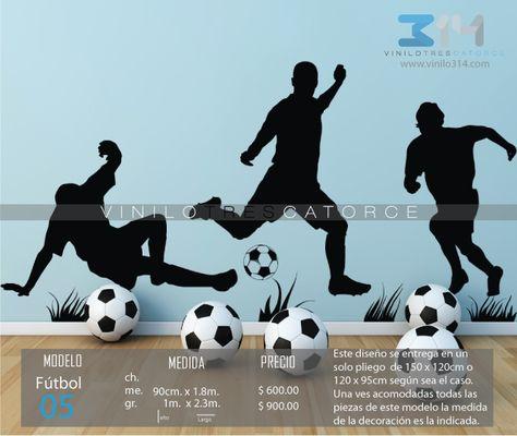 Los jugadores de fútbol niños adolescente Hogar Dormitorio Vinilo Pared Calcomanía//Pegatinas De Vinilo