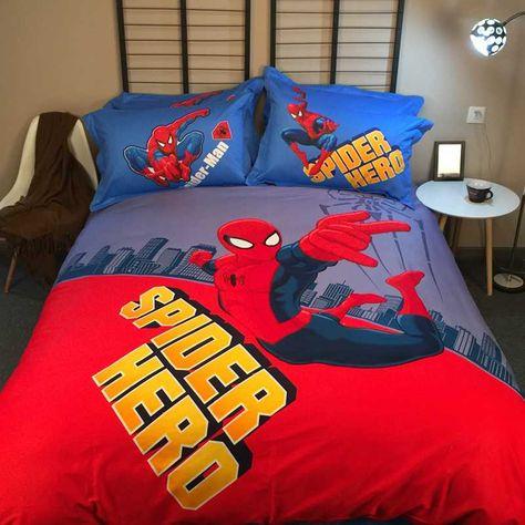 Bedombouw 160 X 210.Spider Hero Spider Man Comforter Set For Teens Super Heroes
