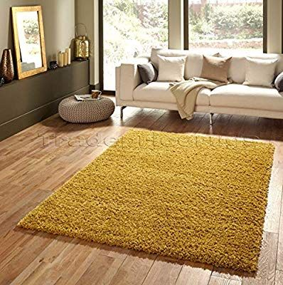 Soft Touch Shaggy Gold Ochre Thick Luxurious Soft 5cm Dense Pile