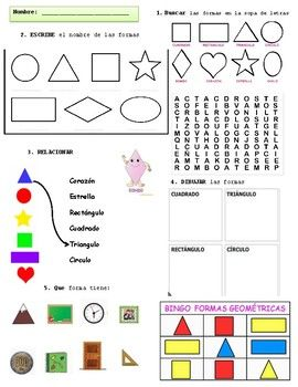 Shapes in Spanish | Printables and Worksheets ' Spanish ...