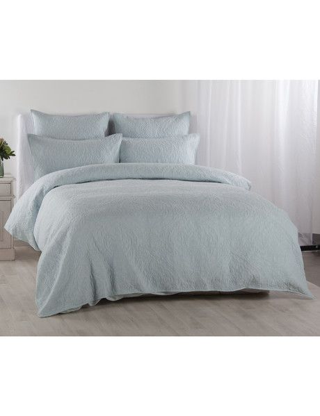 Kate Reed Grace Quilted Duvet Cover Set Duckegg Duvet Covers Co Ordinates Contemporary Bedroom Sets Bed Duvet Covers Bedding Shop