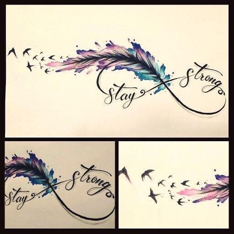 Feather infinity tattoo