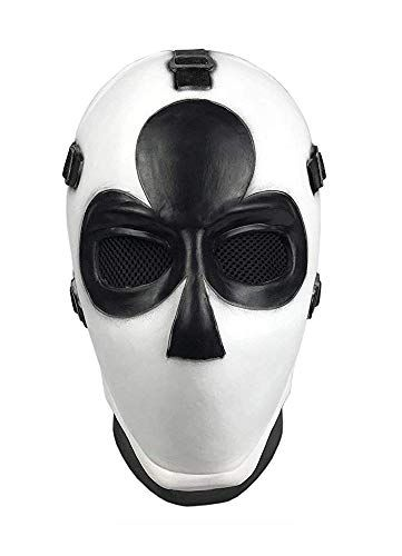UK/_ Game Wild Card Skin Poker Cosplay Costumes Mask Halloween Party Full Face Ch