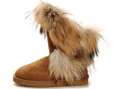 fox fur short ugg womens boots 5531 chestnut uggaustralia outlet rh pinterest fr