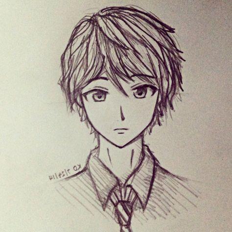 Easy Anime Drawings In Pencil Boy Anime Boy Drawings In Pencil Boy
