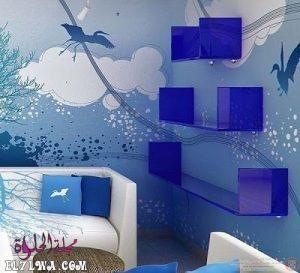 اختيار الوان دهانات الريسبشن أحد الأمور الهامة التي يجب اختيارها بعناية حيث أن الريسبشن يعد وا In 2020 Blue Painted Walls Blue Interior Design Girls Bedroom Blue Walls