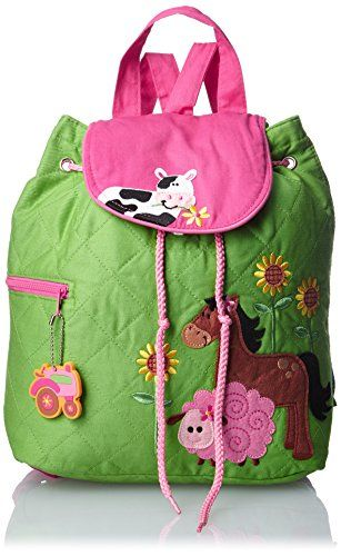 Stephen Joseph Quilted Backpack, Girl Farm,