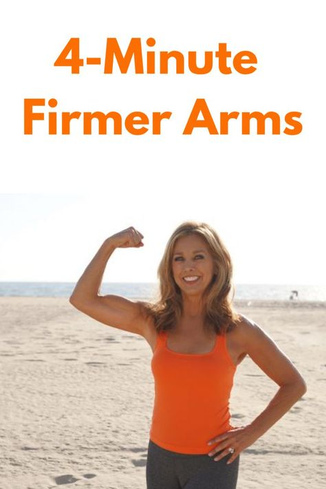 Sexy Arm Workout Part 2: 4-Minute Firmer Arms - Denise Austin Denise Austin, Fitness Workout For Women, Body Fitness, Fitness Tips, Toning Workouts, Easy Workouts, Arm Exercises, Mini Workouts, Arm Weight Workouts