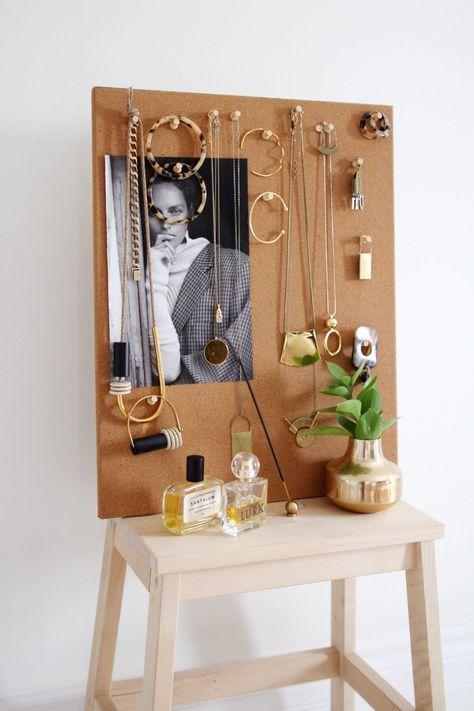 JEWELRY ORGANIZER DIY -  Style Bee – Easy Jewelry Organizer DIY  - #Diy #diyjewelrymaking #diyjewelryunique #diypiercing #jewelry #Leatherjewelrydiy #Organizer