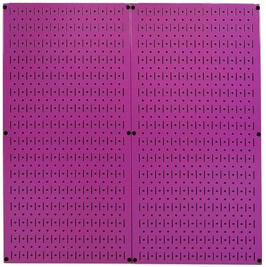 32in X 16in Purple Metal Pegboard Tool Board Panel Metal Pegboard Wall Paneling Peg Board