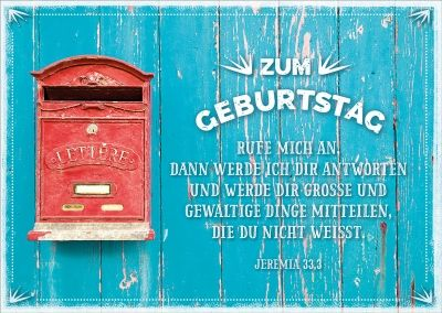 Postkarte - Fünf Worte