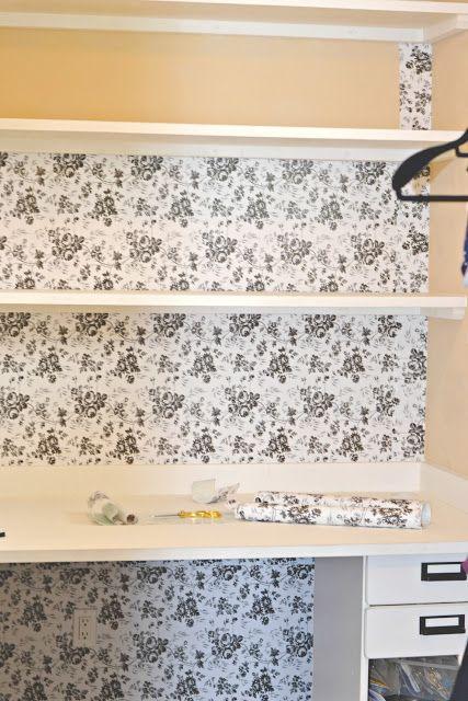 Contact Paper Used As Wallpaper Diy Diy Wallpaper Diy Home Decor Home Diy
