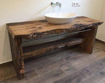 Mirror Old Wood Waschtisch Holz Waschtisch Waschtisch Holz