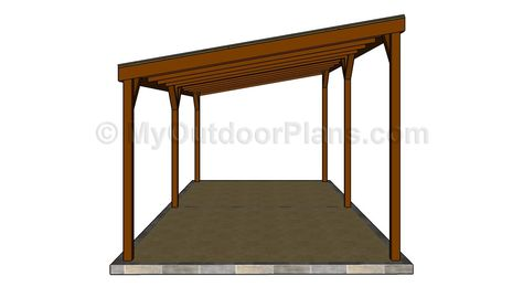 How To Build A Carport Easy Follow Plans And Instructions For Building Double In One Week Free At Www Myoutdoorplans Diy