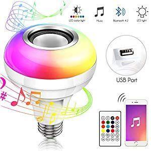 Bluetooth E27 Farbwechsel Gluhbirne Haofy Lamp Lautsprecher Led Musik Rgb Smart Haofy Musik Glu Color Changing Lamp Light Bulb Bluetooth Light