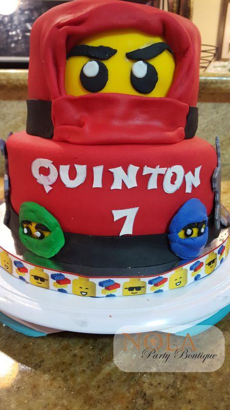 Lego Ninjago Birthday Cake NOLA Party Boutique Custom Cakes
