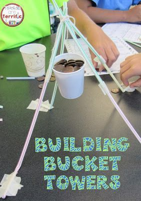 STEM Challenges: This amazing challenge uses one basic material- Straws! Add a f ew more items and see if your students can build a suspended bucket that will hold weight!