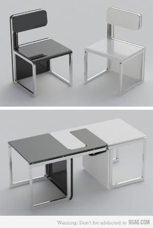 Chair That Turns Into Table Chairs Turn A Awesome Things Flip Pinterest