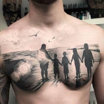 Artisticos Y Singulares Tatuajes De Siluetas De Personas Tatuajes De Familia Para Hombres Tatuajes De Silueta Tatuajes De Familia
