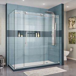 Dreamline Enigma X 34 1 2 Inch D X 72 3 8 Inch W X 76 Inch H Sliding Shower Enclosure I Shower Doors Frameless Sliding Shower Doors Frameless Shower Enclosures