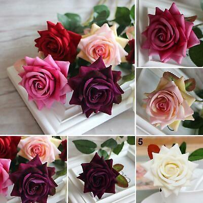 100x Artificial Silk Rose Flower Leaves Craft Wedding Decor Garland Wreaths Leaf