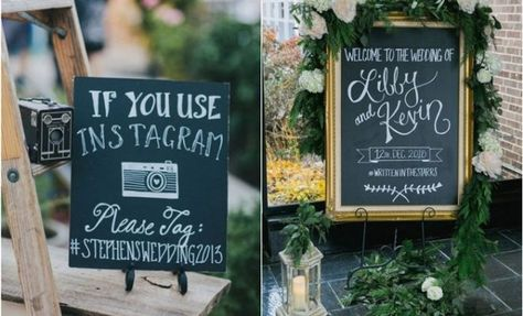 20 Snapchat and Instagram Wedding Hashtag Sign Ideas     Hi Miss Puff #wedding #weddings #weddingideas #weddingsigns #himisspuff