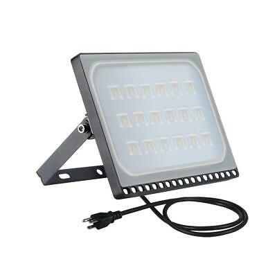 100w Ultrathin Led Flood Light Warm White Outdoor Lamp Spotlight With Us Plug In 2020 Led Flood Outdoor Lamp Flood Lights