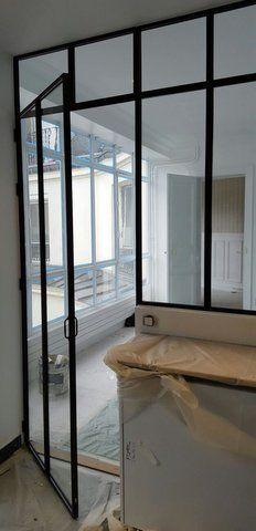 Style Industriel Pour Cette Porte Coulissante Sur Mesure Maison - Porte placard coulissante jumelé avec installation de porte blindée