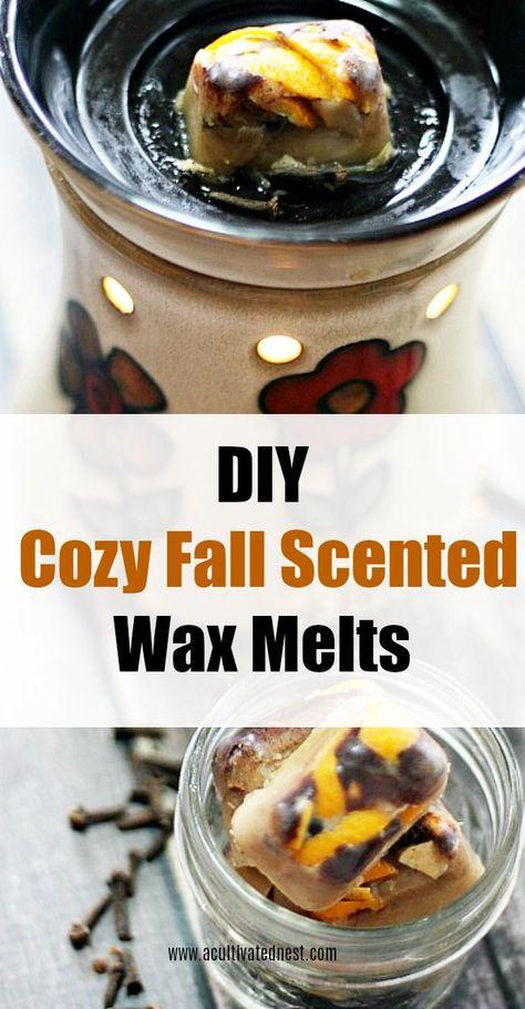 DIY cozy autumn-scented wax melts ,  #autumnscented #Cozy #Diy #diykidroomdecorhomemadegifts #melts #wax