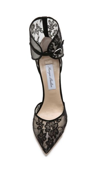 Monique Lhuillier, Lace Heels.