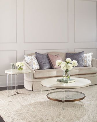 Malone Acrylic Leg Side Table Coffee Tables In 2019