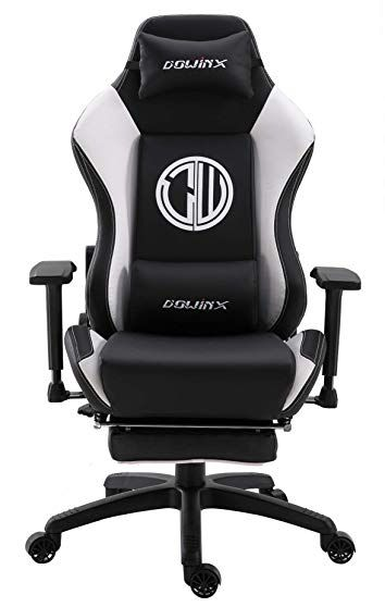 Dowinx Gaming Chair Ergonomic Racing Style Recliner With Massage Lumbar Support Office Armchair For Computer Pu Leath Gamer Chair Gaming Chair Office Armchair