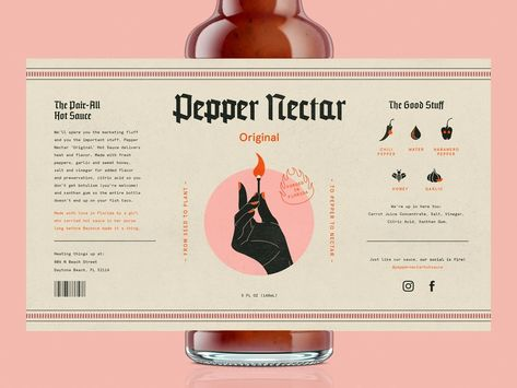 The Pair-All Hot Sauce designed by Johnny Q. for Hype Group. Connect with them on Dribbble; the global community for designers and creative professionals. Web Design, Logo Design, Label Design, Typography Design, Package Design, Brand Identity Design, Packaging Box Design, Bottle Packaging, Brand Packaging
