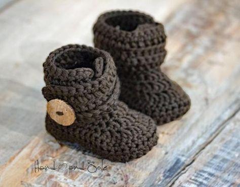 eed02978572ad Crochet Baby Hat Pattern and Crochet Bootie Pattern, Baby Crochet ...