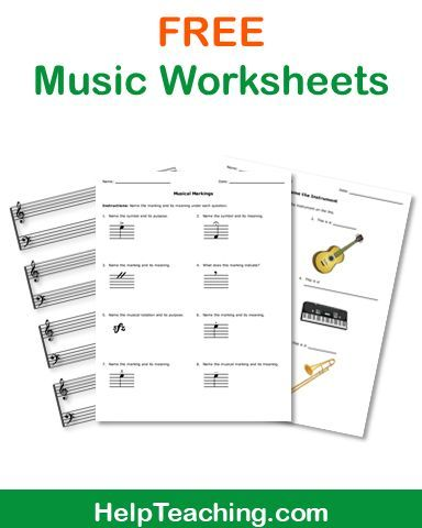 FREE Music Worksheets - Celebrate Music in Our Schools Month with ...