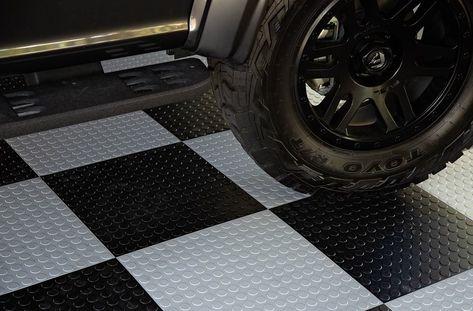 Coin Flex Nitro Tiles Garage Floor Tiles Rubber Garage Flooring