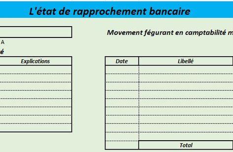 L Etat De Rapprochement Bancaire Automatique Plan Comptable Declaration Fiscale Bancaire