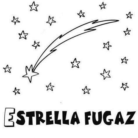 Dibujo Para Pintar De Una Estrella Fugaz Con Imagenes Estrella