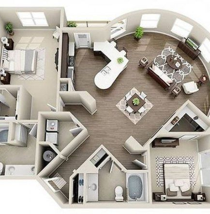 22 Trendy Home Luxury Bedroom House Plans House Bedroom Home With Images Sims House Plans Modern House House Plans