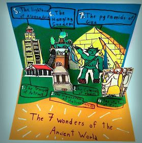 The 7 Wonders of the Ancient World ... Create your own pop-up!