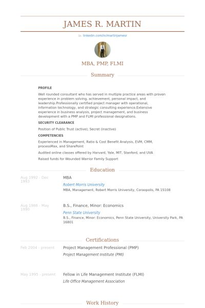 lean lead (project manager) Resume Example private Pinterest - traditional resume example
