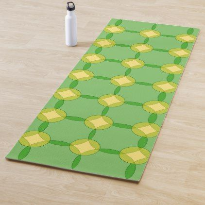 Green And Gold Circles Yoga Mat Zazzle Com Green Gold Green Gold