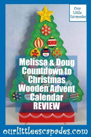 NEW Melissa and Doug Countdown To Christmas Wooden Advent Calendar