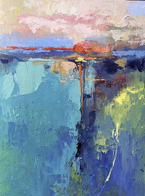 """Green Flash Vlll"" by Neil Walling Oil ~ 16"" x 12"""