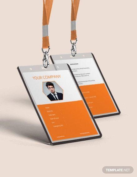 Free Corporate Blank Id Card Template Id Card Template Employee Id Card Blank Id Cards