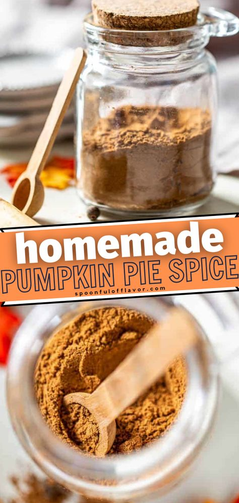Thinking of ways to spice up your fall dessert recipes? Make your own Pumpkin Pie Spice at home! With this recipe, your pumpkin desserts and dishes will have an authentic flavor. Make a batch or two to store and use in any season of the year. Pin this!