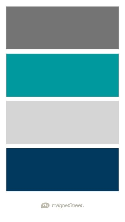 Charcoal Teal Silver And Navy Wedding Color Palette